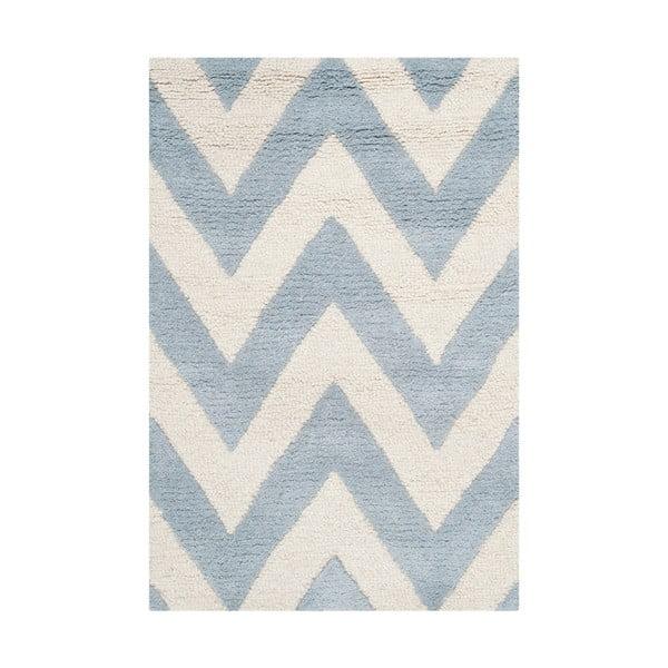 Vlněný koberec Stella Light Blue, 91x152 cm