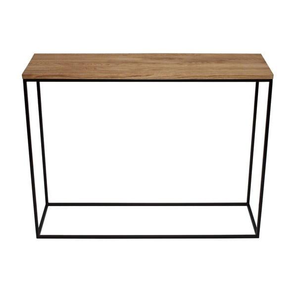 Konzolový stolek Skinny Oak Black