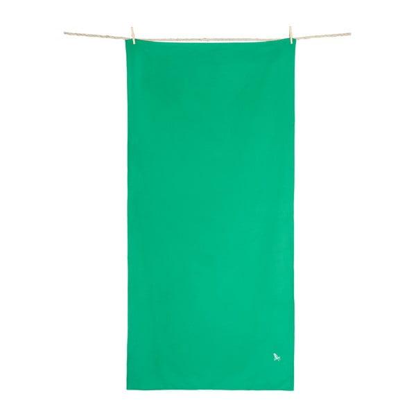 Rychleschnoucí zelená osuška DockandBay, 200x90cm