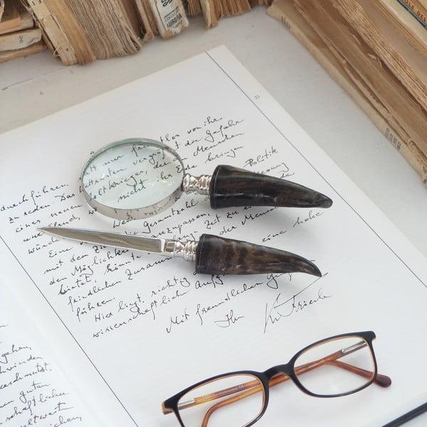 Sada lupy a nože na dopisy Magnifique