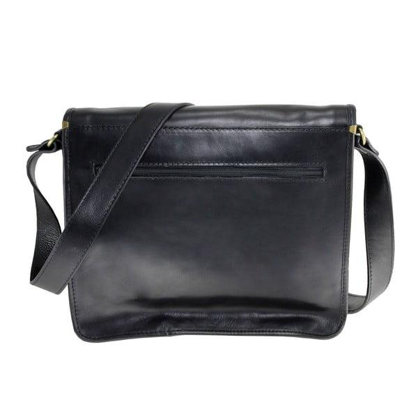 Černá kožená taška Chicca Borse Nomra