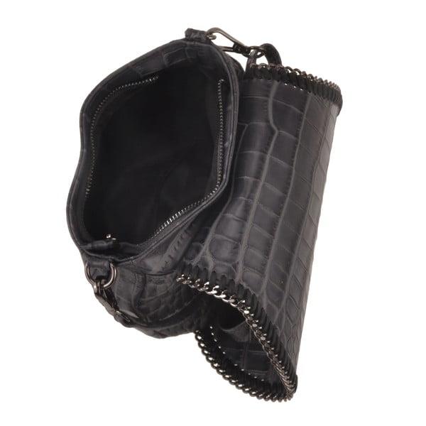 Kožená kabelka Emilio Masi Star, šedá