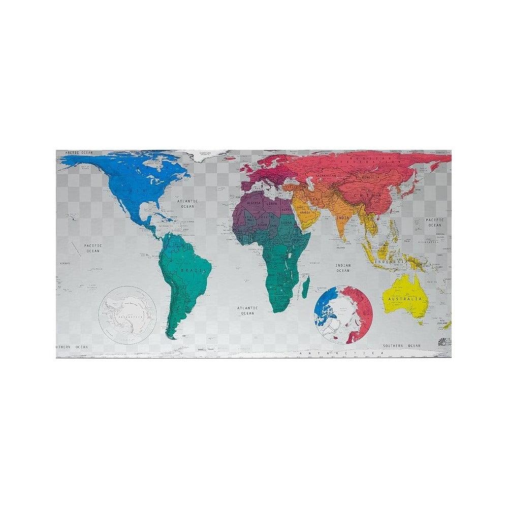 Mapa světa The Future Mapping Company Future World Map, 101 x 58 cm