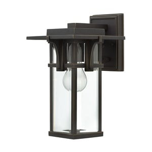 Černé nástěnné svítidlo Elstead Lighting Manhattan Uno Small