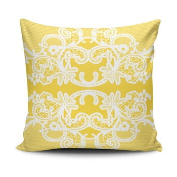 Pernă cu adaos de bumbac Cushion Love Amarillo, 45 x 45 cm