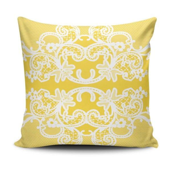 Vankúš s prímesou bavlny Cushion Love Amarillo, 45 × 45 cm