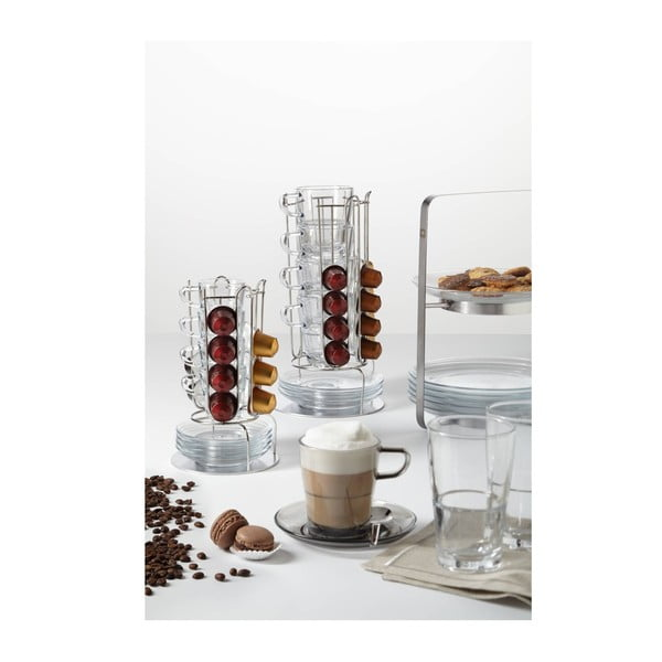 9dílný set na kávu se stojanem LEONARDO SENSO