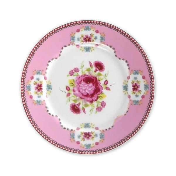 Dezertní talířek 17 cm, růžový