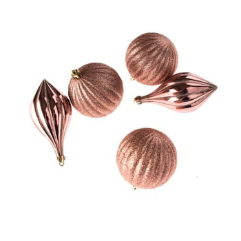Set 5 decorațiuni supendate Dakls, roz imagine