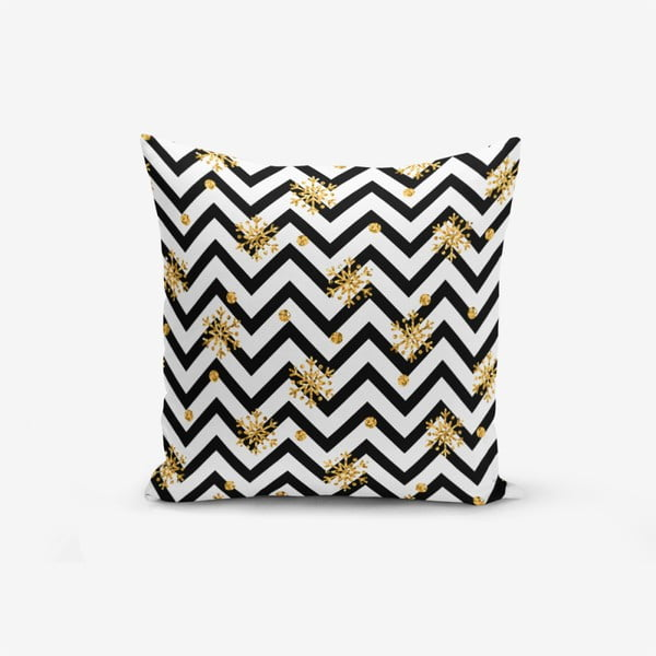 Snowflake Zigzag pamutkeverék párnahuzat, 45 x 45 cm - Minimalist Cushion Covers