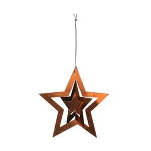 Papírové hvězdy, 12 ks, zlatá/stříbrná/bronzová
