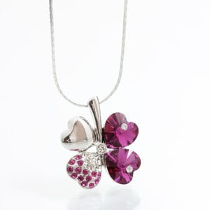 Colier Swarovski Elements Laura Bruni Bloom Fuchsia