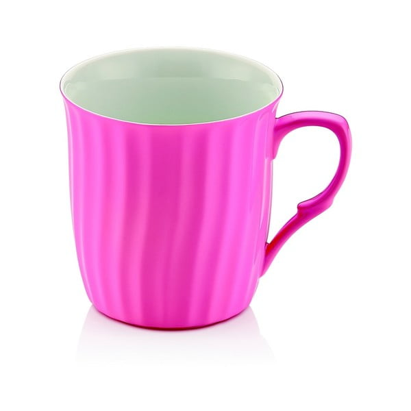 Růžový porcelánový hrnek Efrasia