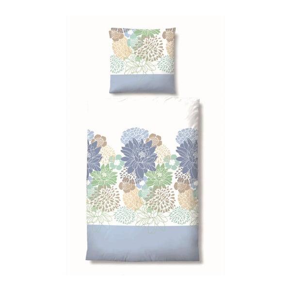 Povlečení Maco Jersey Flowers Blue, 135x200 cm