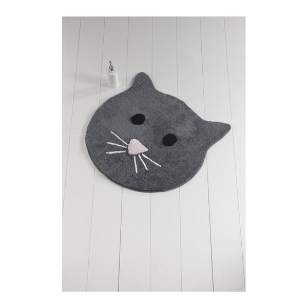 Covor de baie Cat, ⌀ 90 cm, antracit