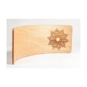 Bukové houpací prkno Utukutu Mandala Vločka, délka82cm