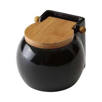 Recipient pentru sare Unimasa Ceramic, 700 ml, negru