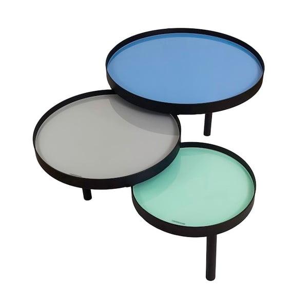 Trojitý odkládací stolek Triplex