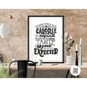Plakát Calorie Refund BW, A3