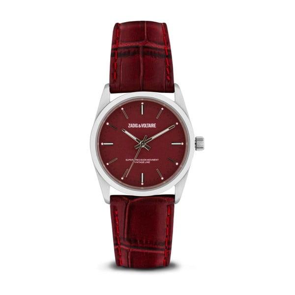 Dámské červené hodinky s koženým páskem Zadig & Voltaire