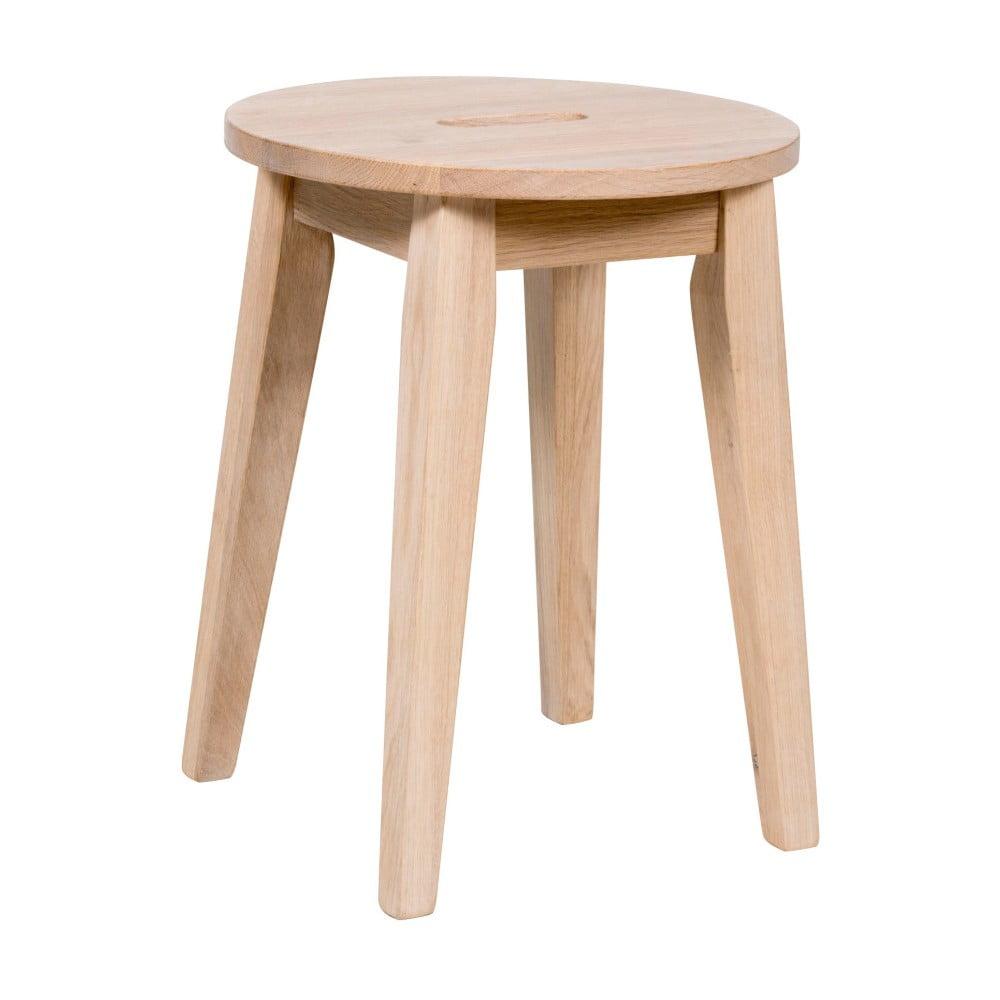 Matně lakovaná nízká dubová stolička Folke Frigg