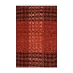 Červený ručně tkaný vlněný koberec Linie Design Genova, 140x200cm