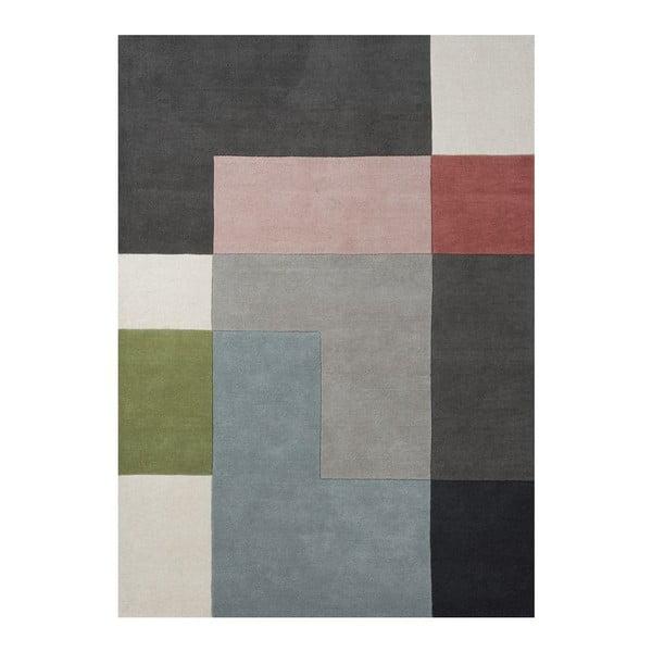 Vlněný koberec Tetris Powder, 140x200 cm