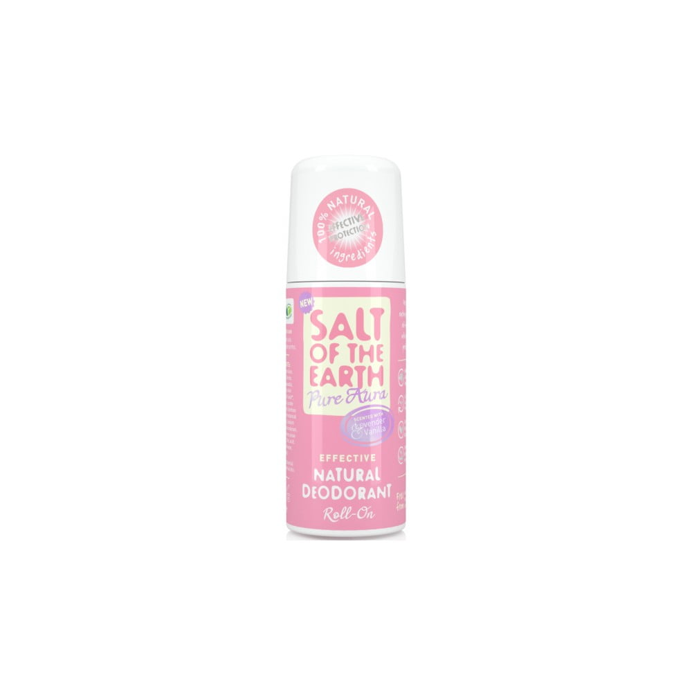 Deo roll-on s vůní levandule a vanilky Salt of the Earth Pure Aura, 75 ml