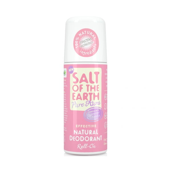 Roll-on deodorant cu parfum de lavandă și vanilie Salt of the Earth Pure Aura, 75 ml