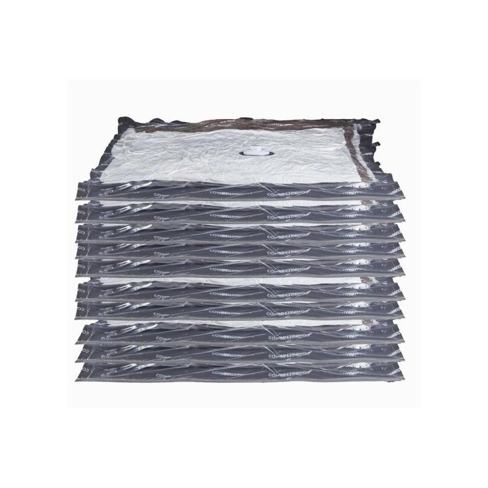 Sada 10 vaukových obalů na oblečení Compactor Aspispace, 90 x 55 cm/100 x 80 cm