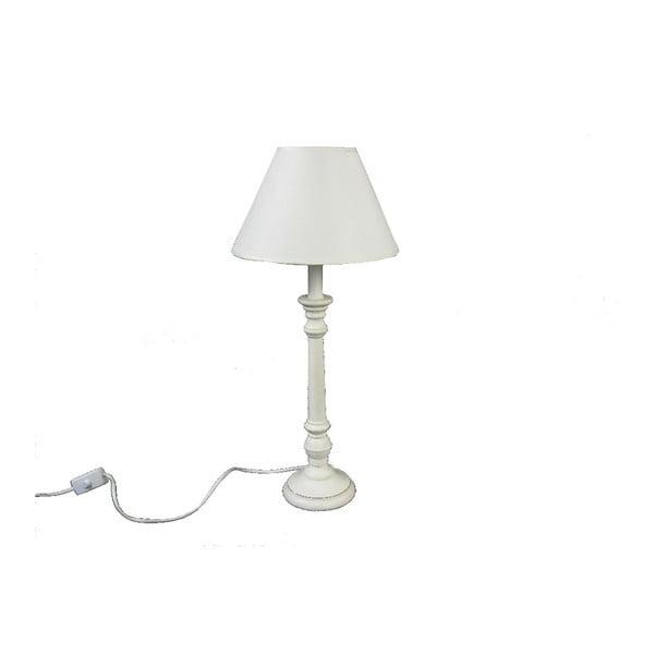 Stolní lampa Wood White, 41,5 cm