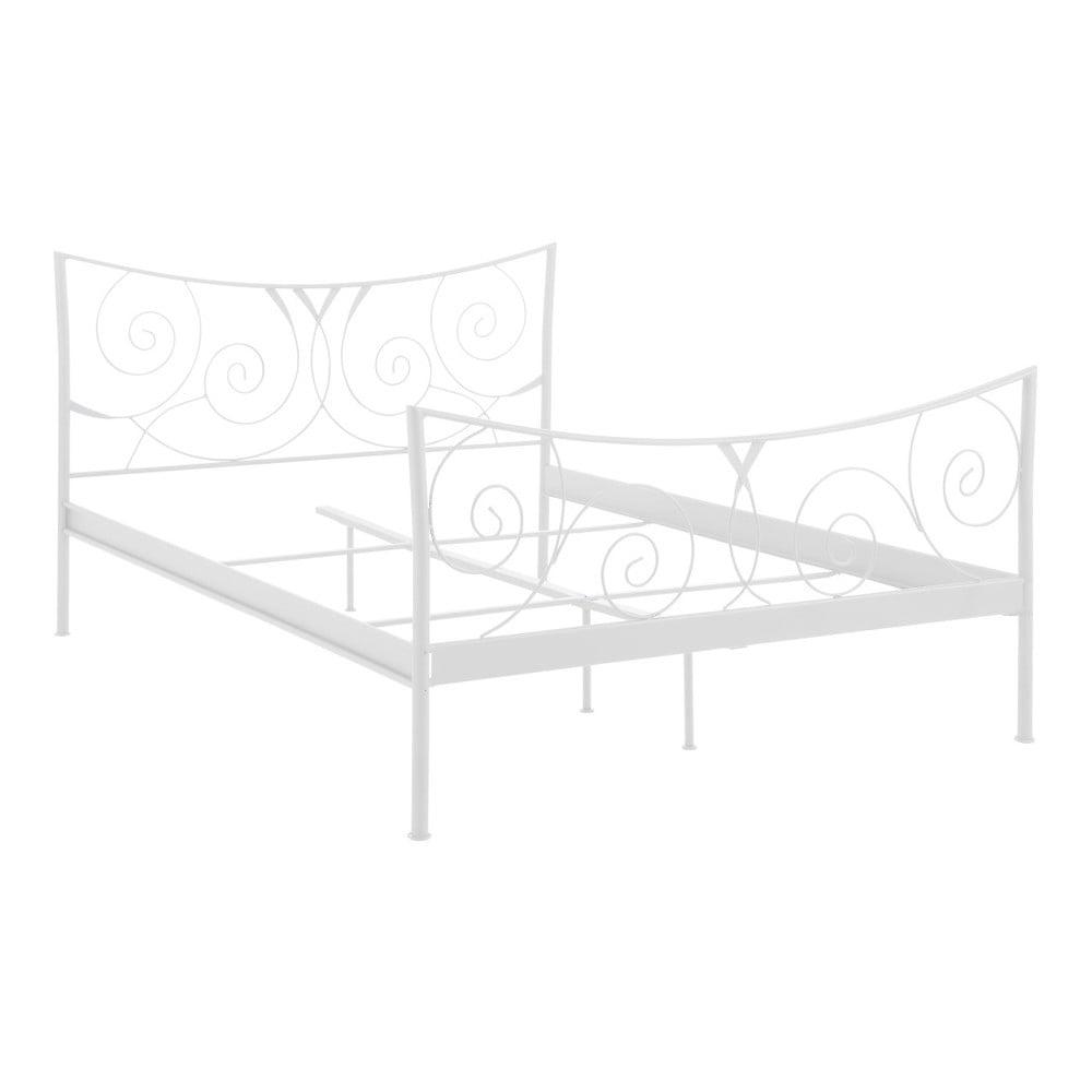 534daf03b68a Bílá dvoulůžková kovová postel Støraa Isabelle