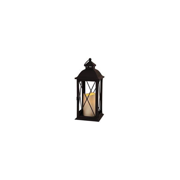Černá LED lucerna Best Season Candle, 32 cm