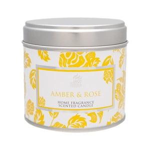 Vonná svíčka Spring Couture  40 hodin hoření, aroma jantar a růže