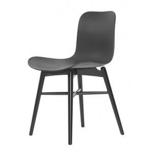 Černá jídelní židle NORR11 Langue Dark