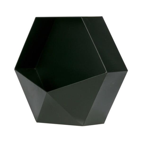 Černá kovová nástěnná dekorace WOOOD, 45 x 39 cm