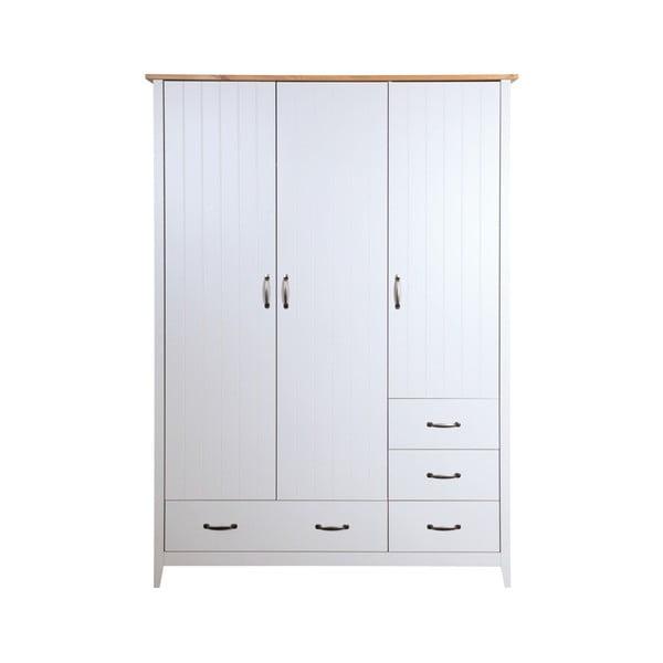 Bílá šatní skříň Steens Norfolk, 192 x 142 cm