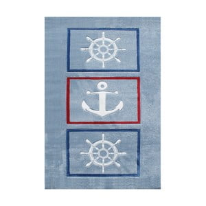 Modrý dětský koberec Happy Rugs Anchor, 120x180cm