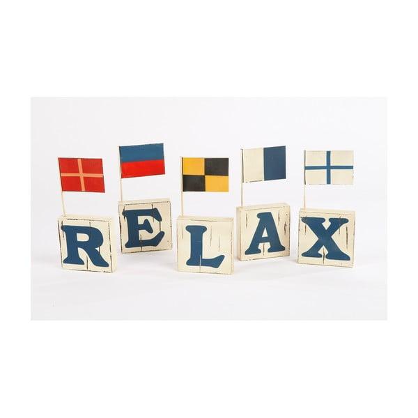 Sada 5 písmen v vlaječkami Relax