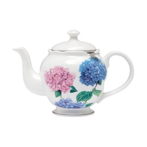 Konvička z kostního porcelánu se sítkem na sypaný čaj Ashdene Pastel Hydrangeas, 750ml