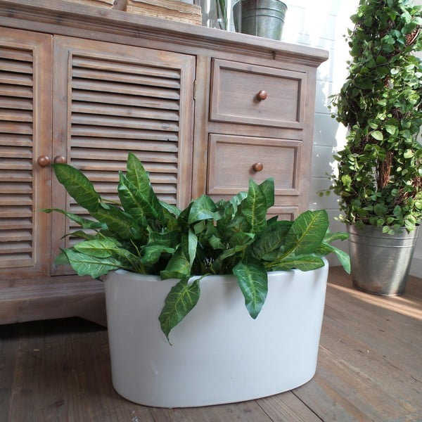 Květináč Support Everwhite, 47x27x24 cm
