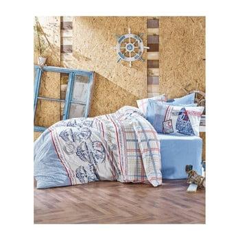 Lenjerie de pat cu cearșaf din bumbac Materro Turima, 160 x 220 cm de la Cotton Box