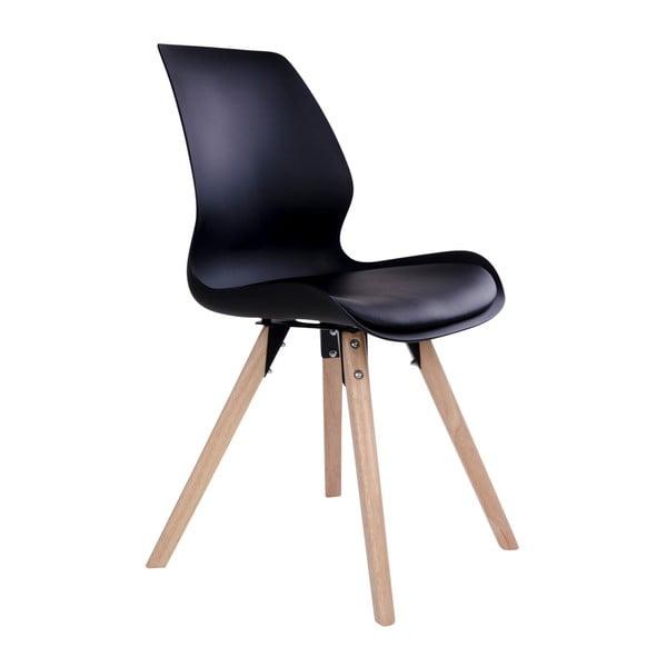 Sada 2 černých židlí House Nordic Rana