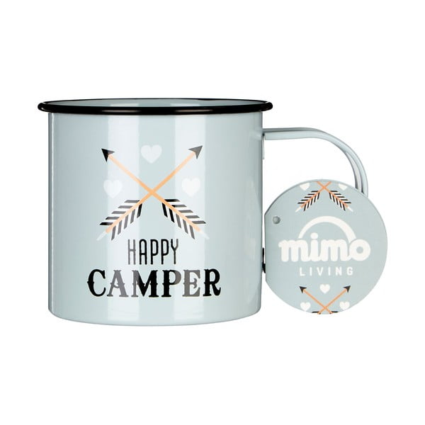 Smaltovaný hrnček Premier Housewares Happy Camper, 350 ml