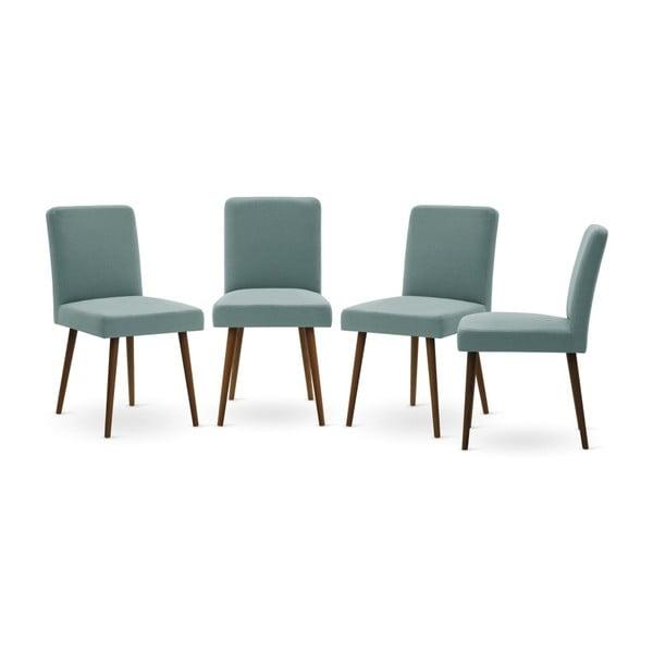 Set canapea crem cu șezlong pe partea dreaptă, 4 scaune gri-verde și saltea 160 x 200 cm Home Essentials