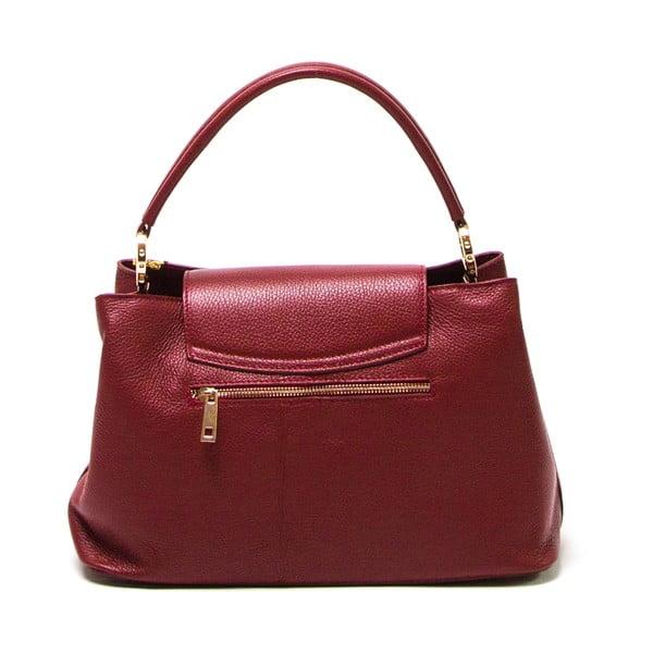 Červená kožená kabelka Luisa Vannini 1132