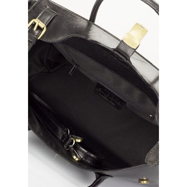 Geantă din piele Lisa Minardi Pomona, negru
