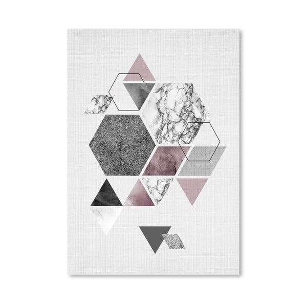 Plakát Geometric Hexagons
