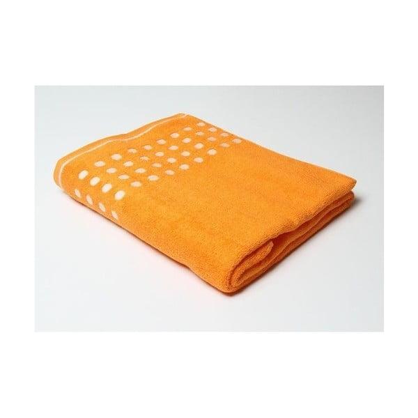 Ručník, tečkovaný oranžový, 140x70
