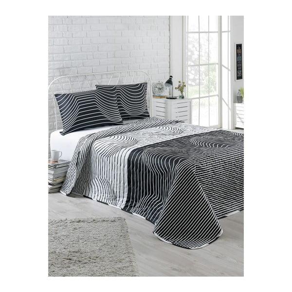 Pantera szteppelt ágytakaró 2 db párnahuzattal, 200 x 220 cm